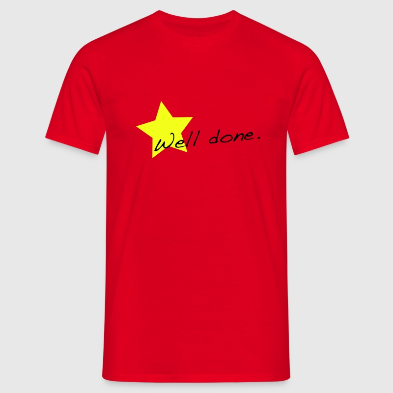 Red Well done star T-Shirts - Men's T-Shirt