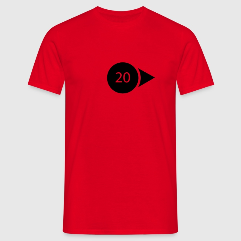 Red weather symbol - wind T-Shirts - Men's T-Shirt