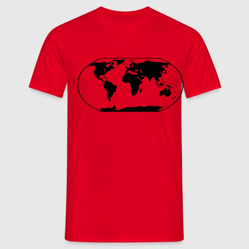 Red World Map T-Shirts - Men's T-Shirt