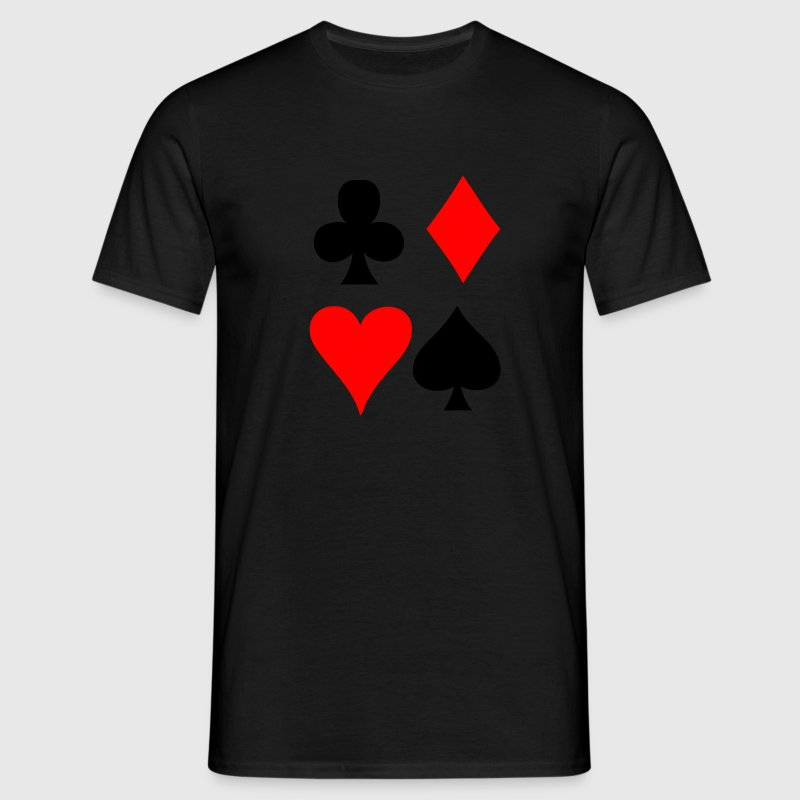 Black Card game - Playing Card T-Shirts - Men's T-Shirt