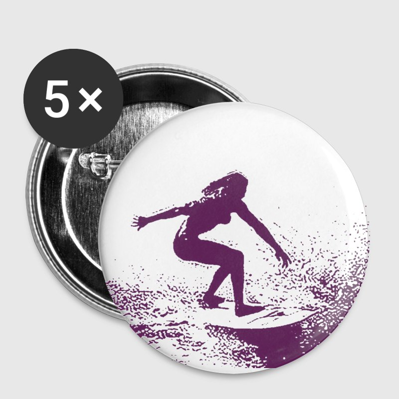 surf porn- ladies badges - Buttons small 25 mm