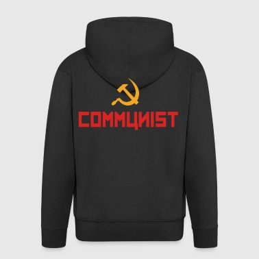 Communist with hammer and sickle Hoodies & Sweatshirts - Men's Premium Hooded Jacket