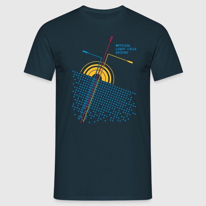 Navy Official light cycle driver T-Shirt - Männer T-Shirt