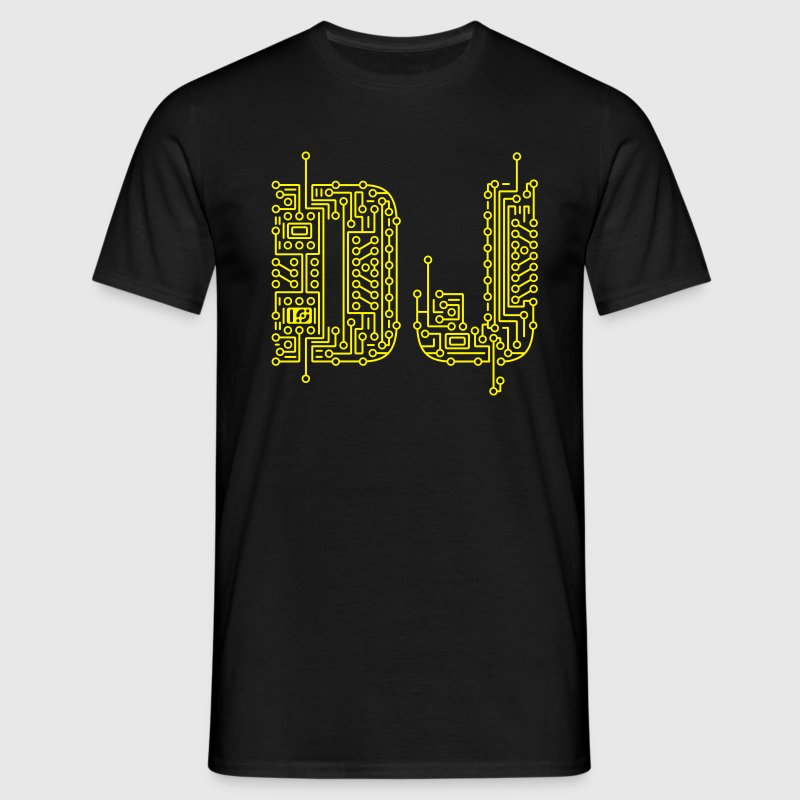 Black DJ Circuit Board T-Shirts - Men's T-Shirt