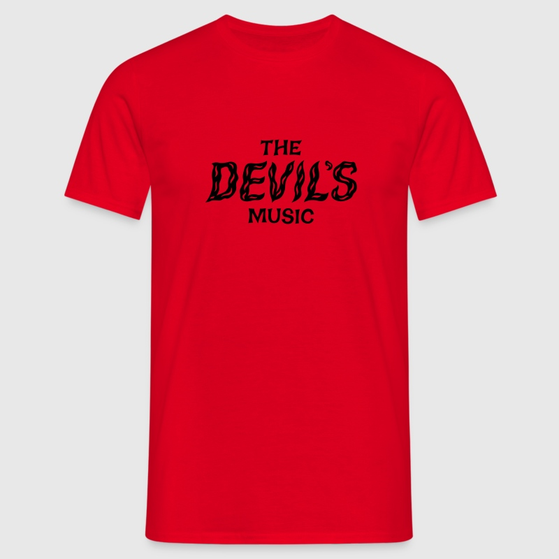 Red The Devil's Music T-Shirts - Men's T-Shirt