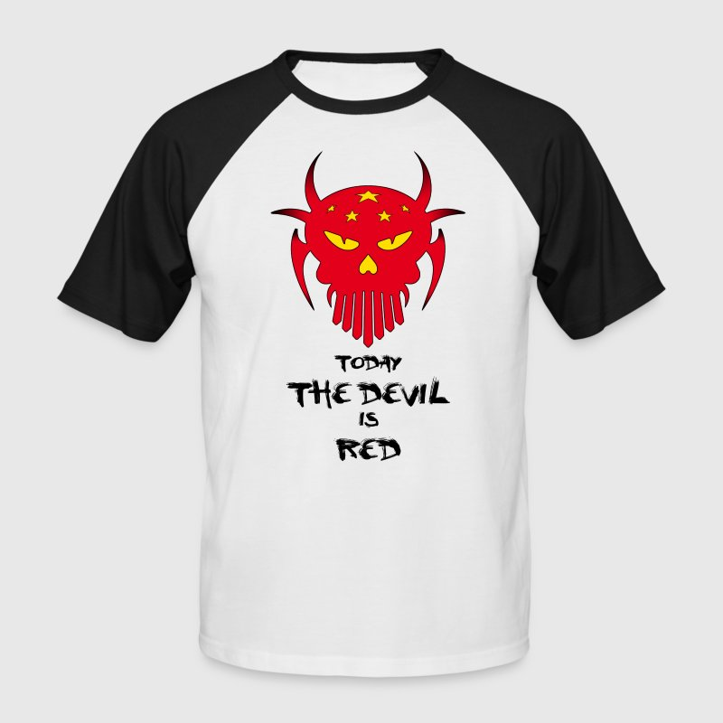 red devil - Männer Baseball-T-Shirt