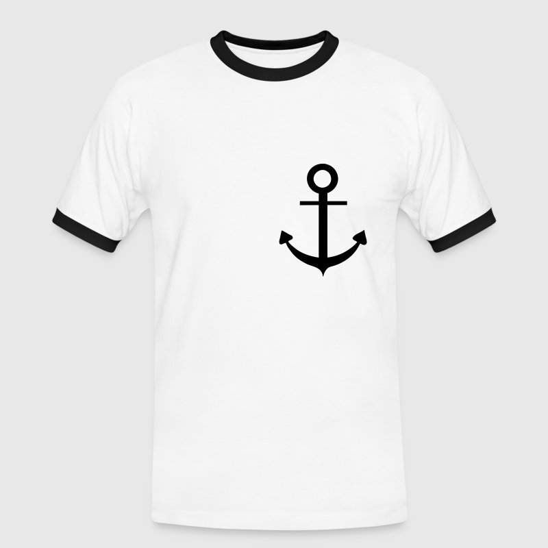 White/black Anchor T-Shirts - Men's Ringer Shirt