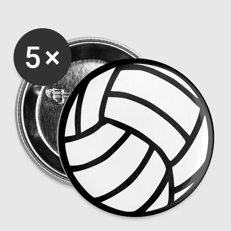 Wit Volleyball Buttons / aanstekers - Buttons klein 25 mm