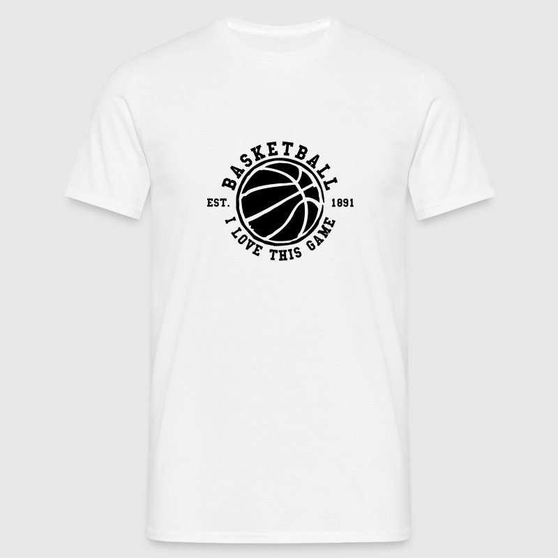 Blanco Basketball - i love this game Camisetas (manga corta) - Camiseta hombre
