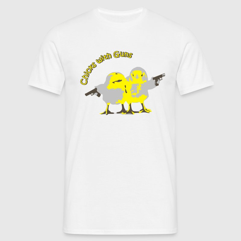 White Chicks with Guns T-Shirts - Men's T-Shirt