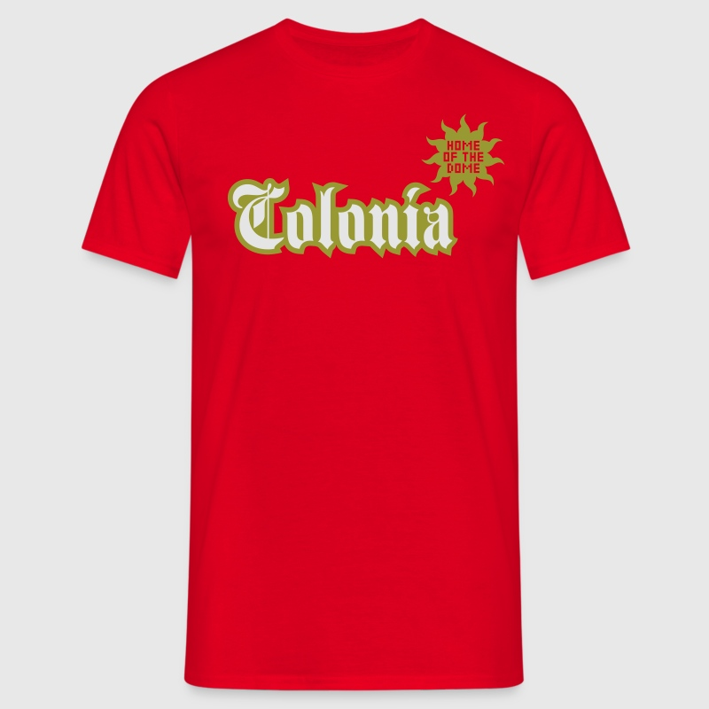 Rot Colonia (Home of the dome) T-Shirts - Männer T-Shirt