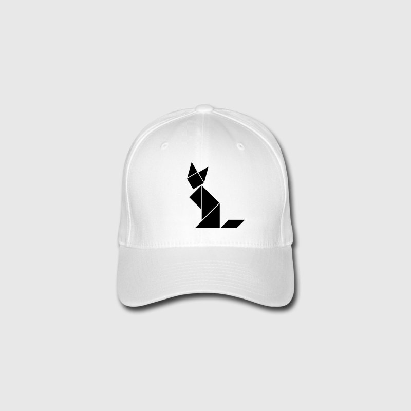 Red Tangram Cat Caps & Hats - Flexfit Baseball Cap