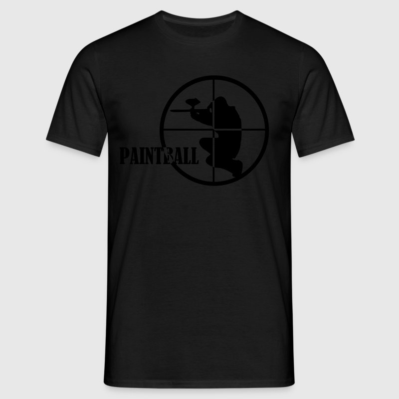 Black Paintball Men's Tees (short-sleeved) - Men's T-Shirt