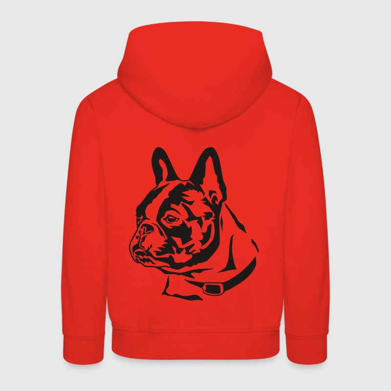 Rot French Bulldog Kinder Pullover - Kinder Premium Hoodie