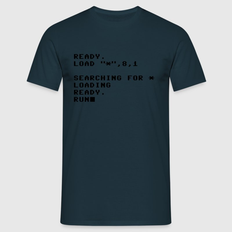 Marinblå C64 Loading Screen T-shirts (kort ärm) - T-shirt herr