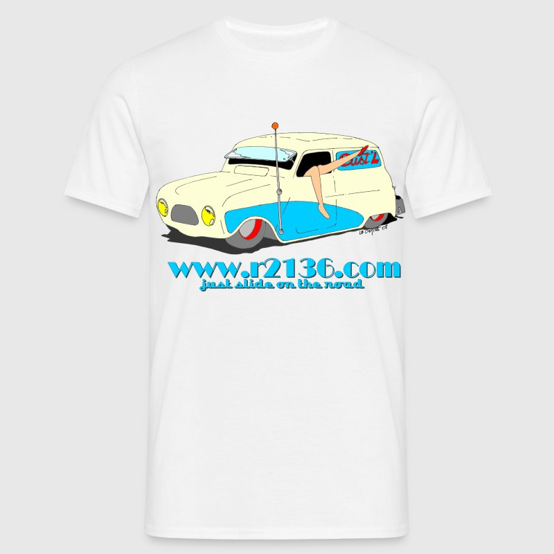 Blanc Renault 4 lowrider T-shirts (m. courtes) - T-shirt Homme