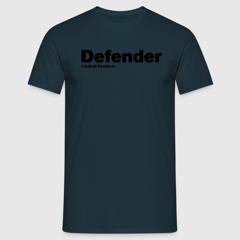 Navy Defender - Football Positions Men's Tees (short-sleeved) - Men's T-Shirt