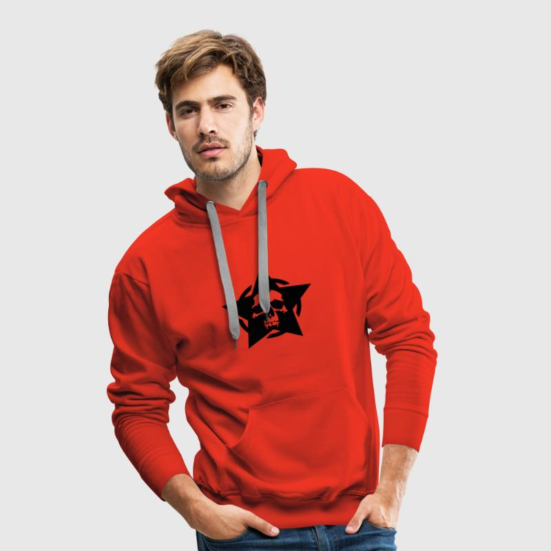 Red star skull circle Jumpers - Men's Premium Hoodie