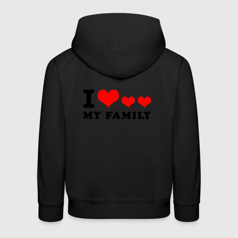 Navy I love my family Kinder Pullover - Kinder Premium Hoodie