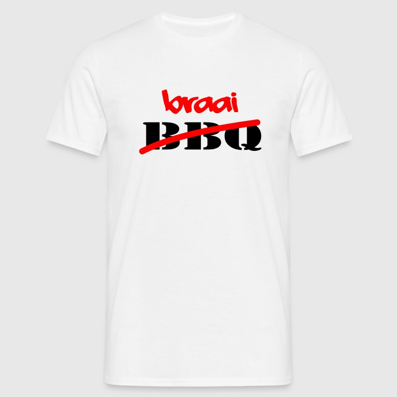 White Braai Not BBQ Men's Tees - Men's T-Shirt