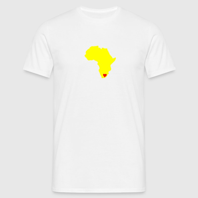 White South Africa, Heart of Africa Men's Tees - Men's T-Shirt