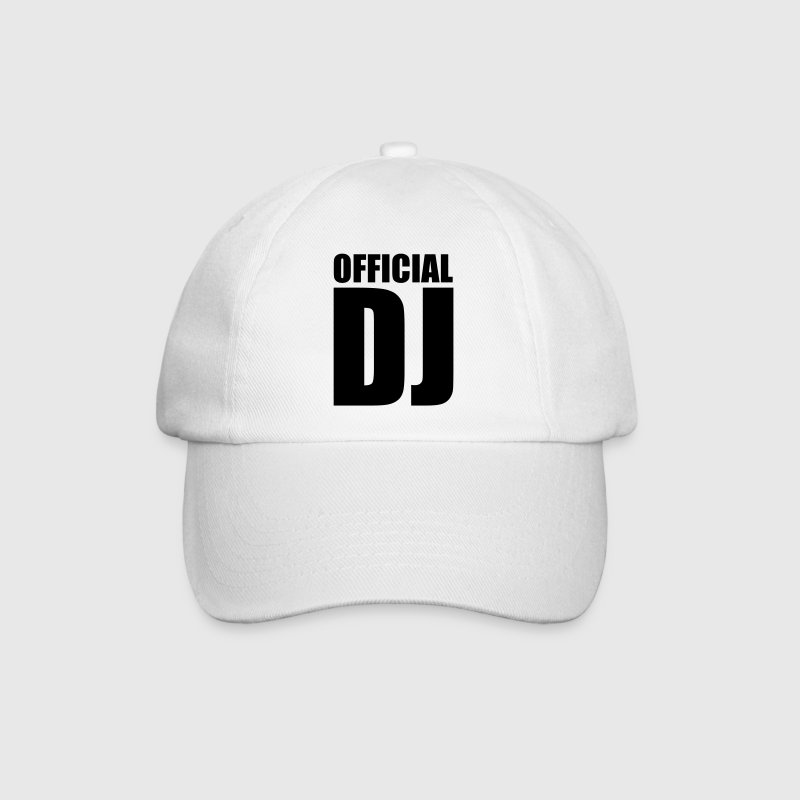 White/white Official DJ Caps & Hats - Baseball Cap