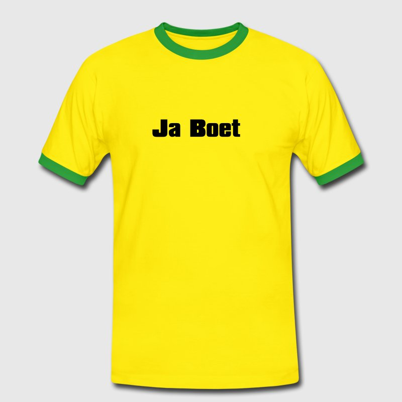 Yellow/green Ja Boet, South Africa Men's Tees - Men's Ringer Shirt