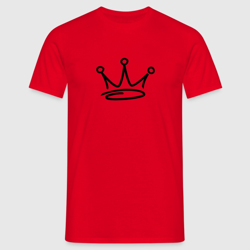 Red graffiti style crown T-Shirt - Men's T-Shirt