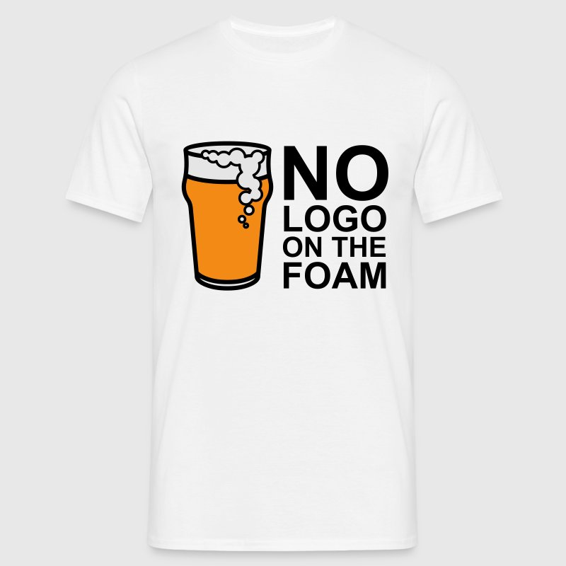 White No Logo On The Foam Men's Tees - Men's T-Shirt
