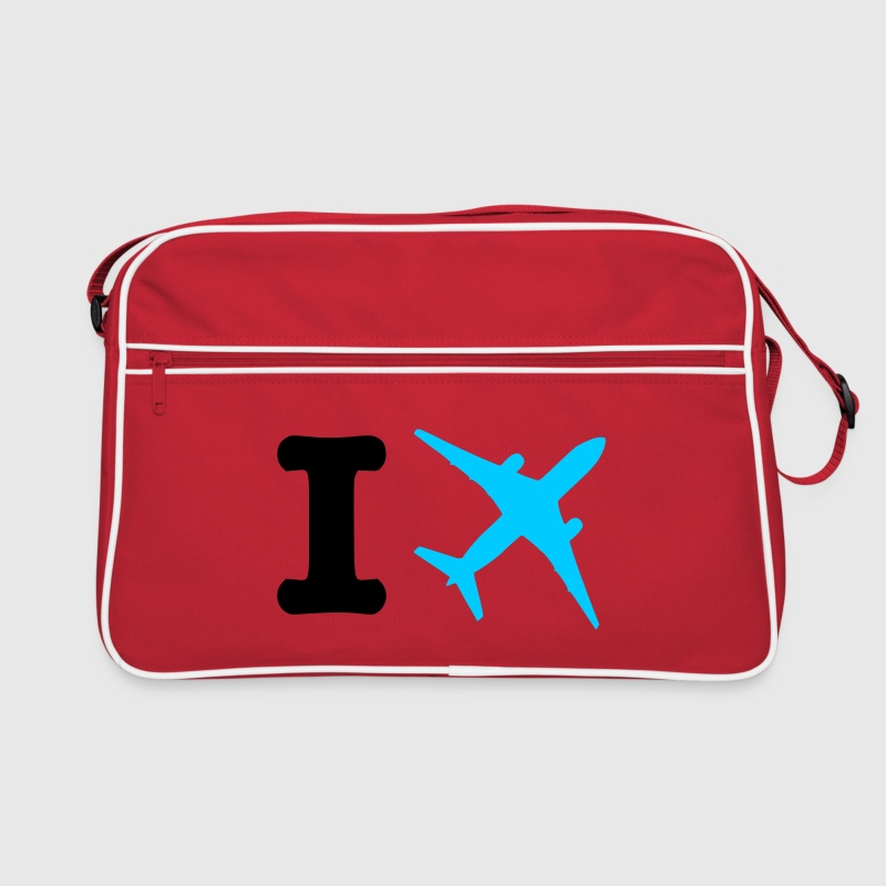 Red/white I fly - travel Bags  - Retro Bag