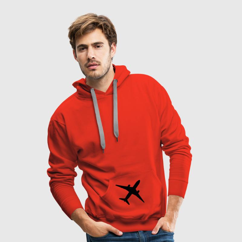 Red plane Jumpers - Men's Premium Hoodie