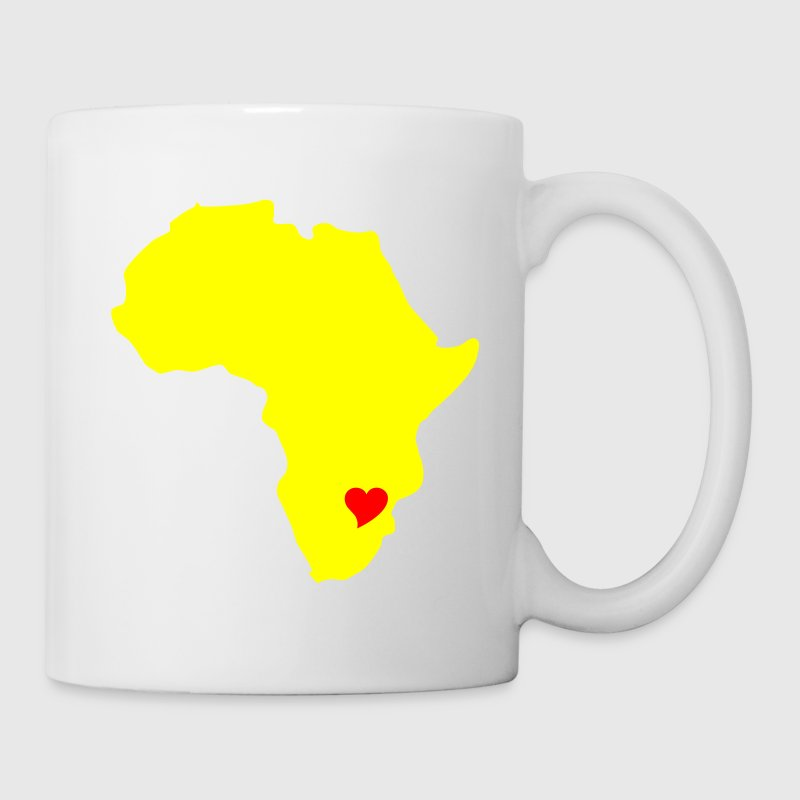 White Zimbabwe, Heart Of Africa Mugs  - Mug