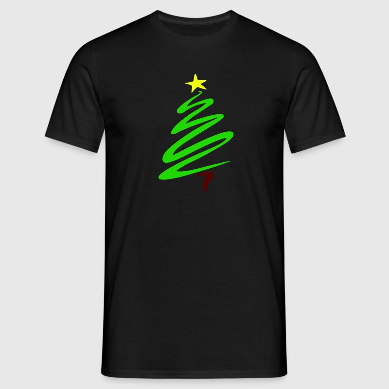Black christmas_tree Men's Tees - Men's T-Shirt