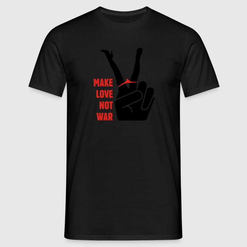 Make Love Not War - Männer T-Shirt