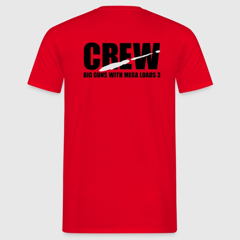 Red porno crew T-Shirt - T-shirt Homme