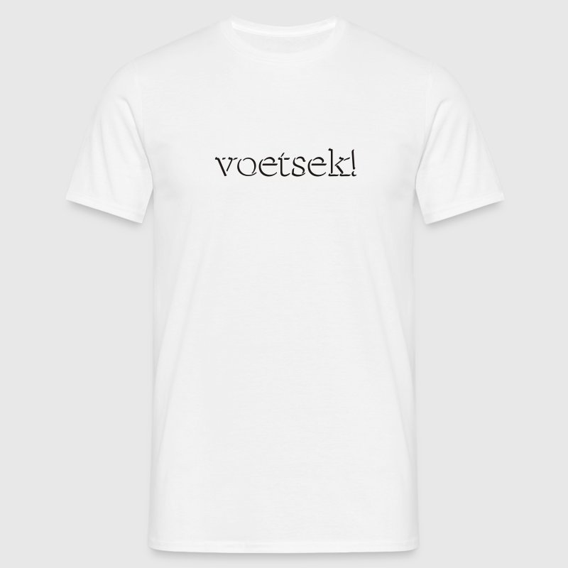 White Voetsek! Men's Tees - Men's T-Shirt