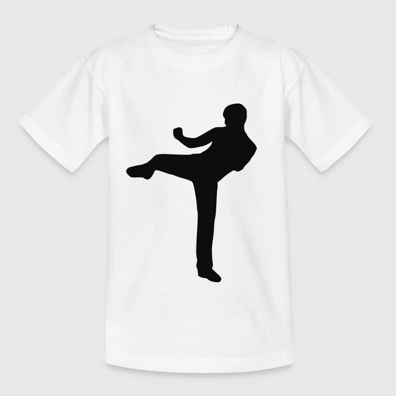 Weiß Kickboxen - Kampfsport Kinder Shirts - Teenager T-Shirt