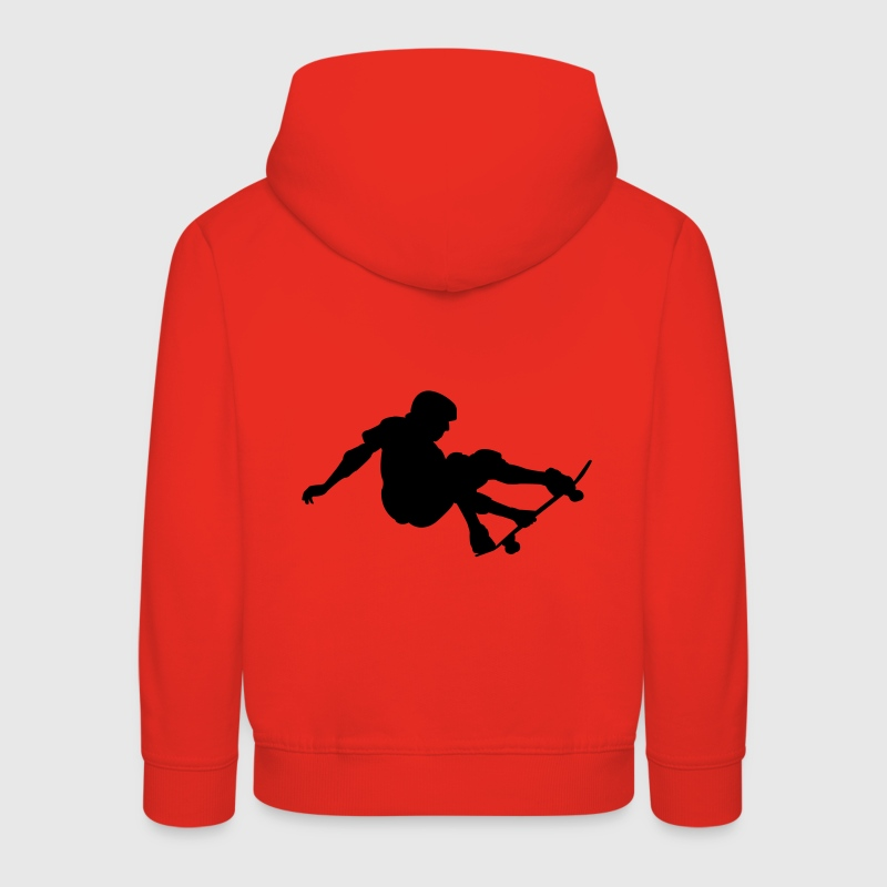 Red Skater - Skateboard - Skating Kid's Tops - Kids' Premium Hoodie