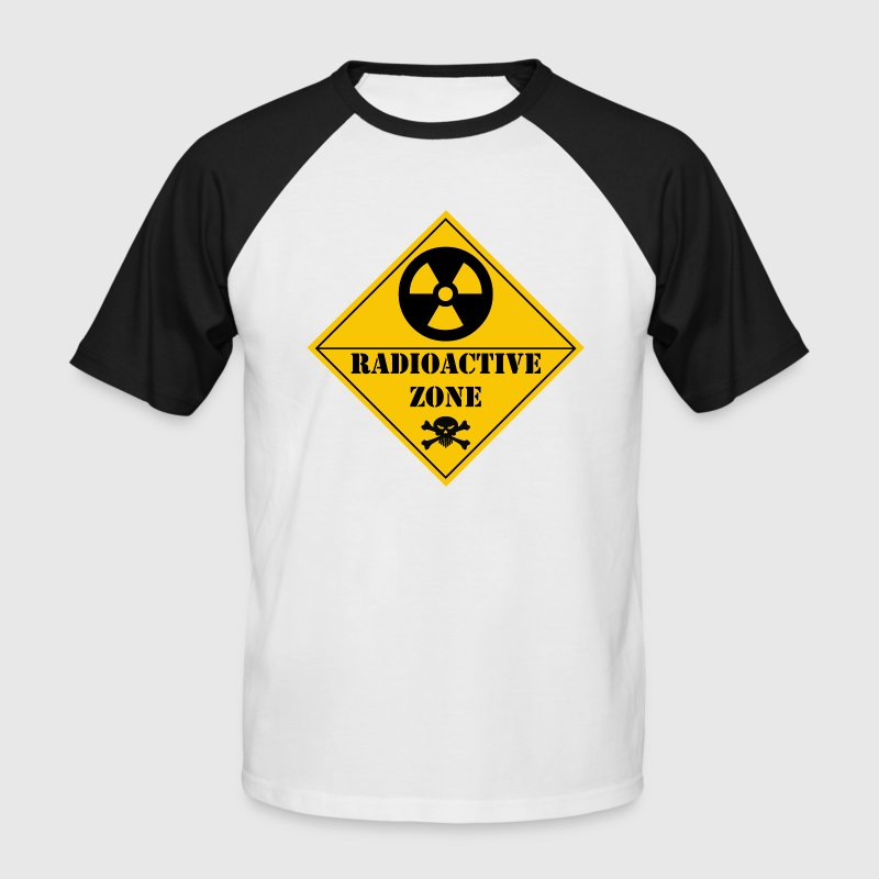 Blanc/noir radioactive zone T-shirts - T-shirt baseball manches courtes Homme