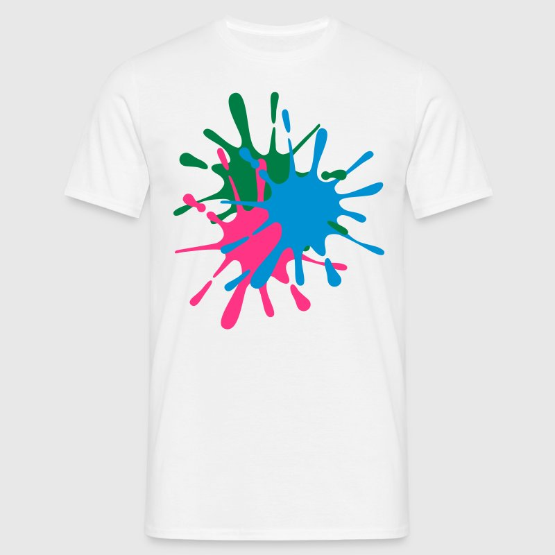 Paintball Hits - Chest - Choose Colours! - Men's T-Shirt