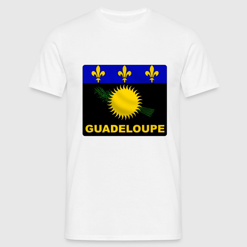 Blanc guadeloupe flag T-shirts - T-shirt Homme
