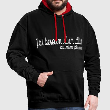 Besoin d'un calin - Sweat-shirt contraste