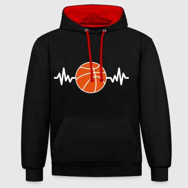basketball is life - Kontrast-Hoodie