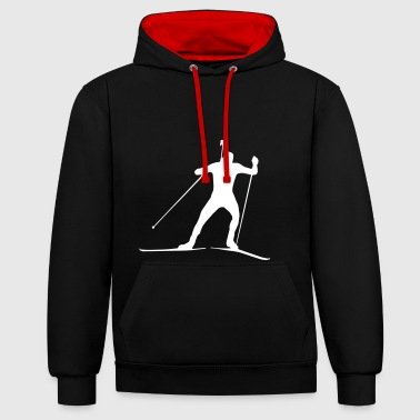Biathlon - cross country skiing - skiing - ski - Contrast Colour Hoodie
