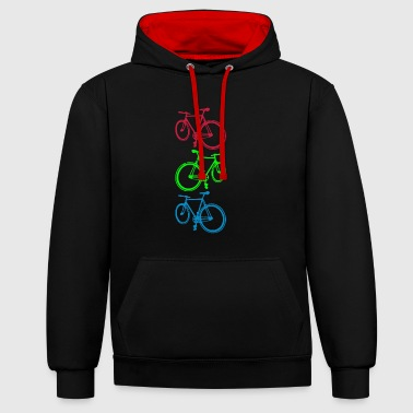 Cycling ( Radfahren) - Contrast Colour Hoodie