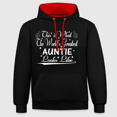 World's Greatest Auntie... - Contrast Colour Hoodie