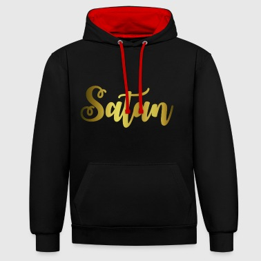 Satanique Satan - Sweat-shirt contraste