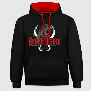 black beast boar - Sweat-shirt contraste