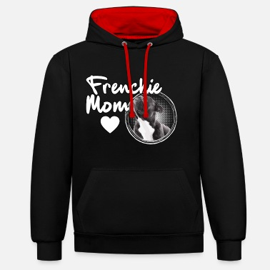 Bouledogue Français Frenchie Mom Maman Bouledogue Français - Sweat-shirt contraste