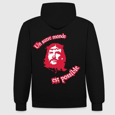 jesus_revolution couleur - Sweat-shirt contraste